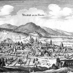 Merian-Stich von Neustadt an der Haardt, 1645