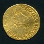 Neustadter Goldgulden mit Kurfürst Ruprecht II. (1390-1398)