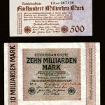 Reichsbanknoten der Jahre 1923 und 1924