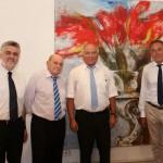 Prof. Willingmann, Karl Oppermann, Oberbürgermeister Löffler und Oberbürgermeister Gaffert